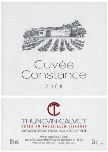 2009 Thunevin-Calvet Cuvee Constance Roussillon 750 Ml