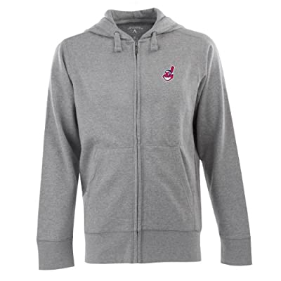 MLB Men's Cleveland Indians Full Zip Signature Hood