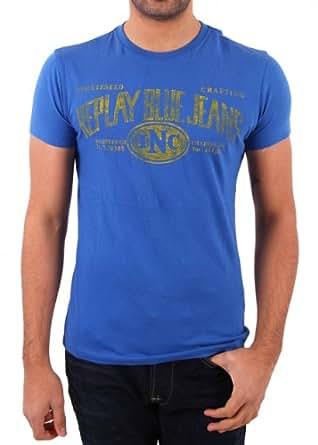 "Replay Herren T-Shirt ""BASIC JERSEY"" blue Größe L"