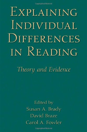 Explaining Individual Differences In Reading: Theory And Evidence (New Directions In Communication Disorders Research) front-75227