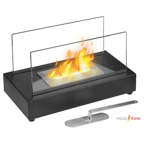 Moda Flame Vigo Ventless Table Top Ethanol Fireplace in Black (Ventless Fireplace Ethanol compare prices)