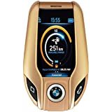 BWM Car Key Mini Phone I8 Blutooth Mobile Phone In Gold Colour