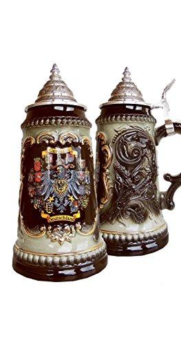 Boccale da Birra tedesco con lo stemma dei stati federali 0,5 litri ZO 1573S6011