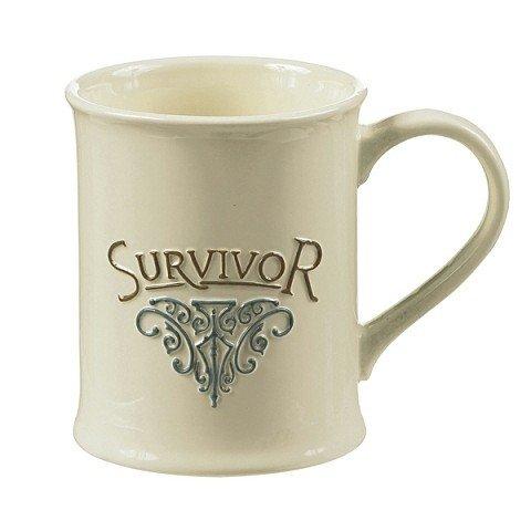 Cancer Survivor Mug, Ivory And Blue By Grasslands Road