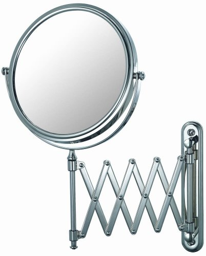 Mirror Image 23345 Extension Arm Wall Mirror, 7.75-Inch Diameter, 1X And 5X Magnification, Chrome front-438401