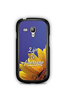 YuBingo Life is Awesome Designer Mobile Case Back Cover for Samsung Galaxy S3 Mini