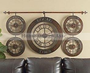 Best NEW Large Wall World Time Zones Clock Hand Forged Metal Wall