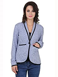 Cherymoya Women's Cotton Jersey Jackets (CM-1400654_Sky__Large)