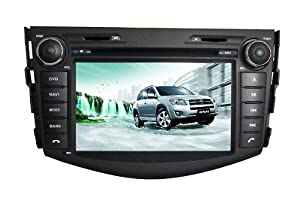 Piennoer In Dash Navigation Original Fit (2006-2012) Toyota RAV4 6-8 Inch Touchscreen Double-DIN Car DVD Player & In Dash Navigation System,Navigator,Built-In Bluetooth,Radio with RDS,Digital TV( ATSC TV for USA,Canada,Mexico,Korea South), AUX&USB, iPhone/iPod Controls,steering wheel control, rear view camera input