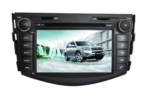 Pioeneer Intelligent In Dash Navigation For (2006-2012) Toyota Rav4 6-8 Inch Touchscreen Double-Din Car Dvd Player & In Dash Navigation System,Navigator,Build-In Bluetooth,Radio With Rds,Analog Tv, Aux&Usb, Iphone/Ipod Controls,Steering Wheel Control, Rea