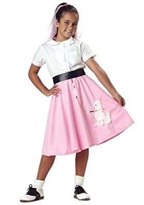 California Costumes Poodle Skirt Girl'S Costume, One Color