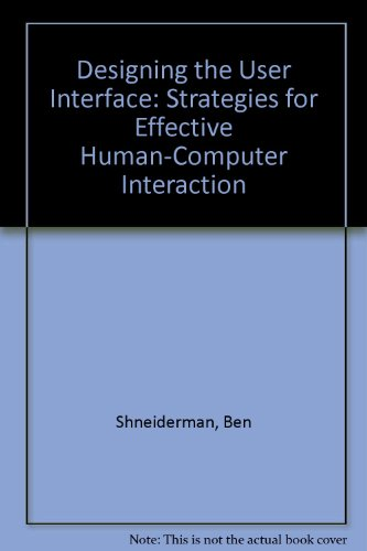 Designing for Effective Human/Computer Interaction