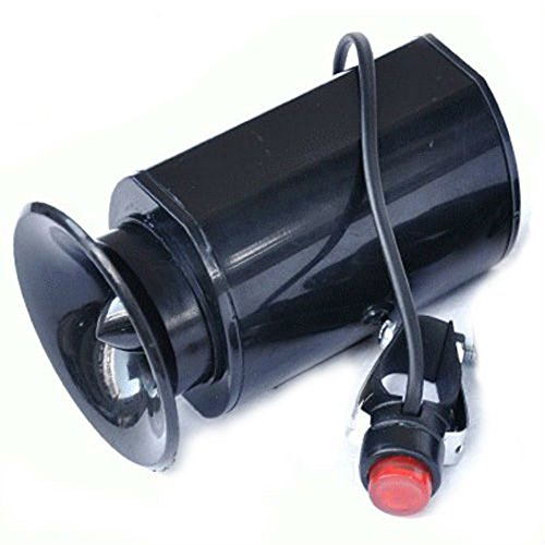 Chariot Trading - Alarm Sound Ring Bicycle Bell Bike Electric Horn Siren With Mount Kit Black - Cj-Bg-Spt-000182