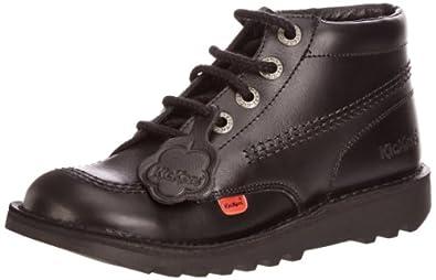 Kickers Kick Hi Core, Unisex-Child Boots, Black, 3 UK