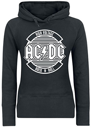 AC/DC Logo Circle Felpa donna nero XL