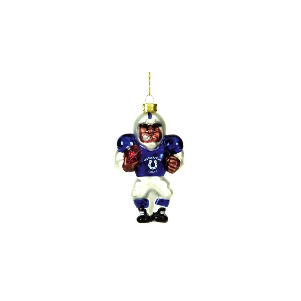 Indianapolis Colts Nfl Glass Player Ornament (4 African American)