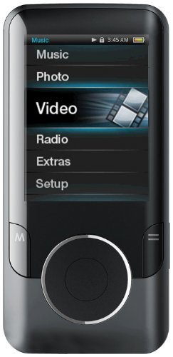 Coby MP727-8GBLK 2.4-Inch Video MP3 Player with FM 8 GB (Black)