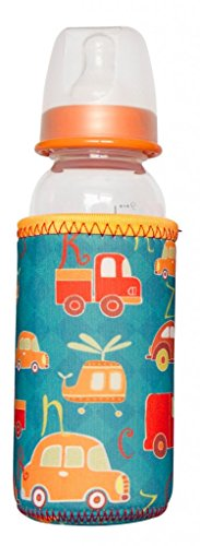 Kidzikoo - #1 Neoprene Baby Bottle/Sippy Cup Insulator Cooler Coozie - Cars & Helicopters