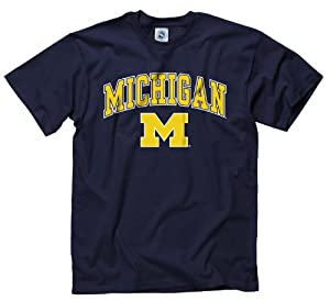 Buy Michigan Wolverines Adult Midsize Logo T-Shirt by Michigan Wolverines