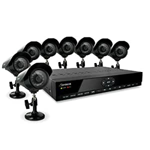 Defender SN301-8CH-008 8 Channel H.264 Smart DVR Security System with Coaching iMenu and 8 Hi-Res CCD Night Vision Surveillance Cameras (Black)