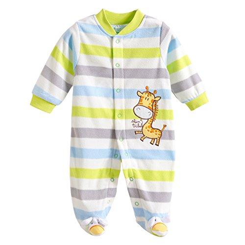 Free Fisher Baby Strampler Overall Spieler - in verschiedenen Designs, Streife Giraffe, Gr. 74/80 ( Herstellergröße: 12)