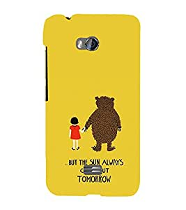 EPICCASE Bear with me case Mobile Back Case Cover For Micromax Q336 (Designer Case)