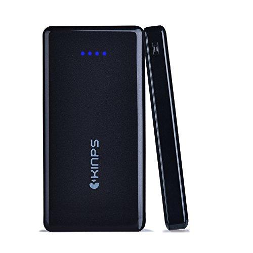 Batteria Esterna,Kinps®14000mAh Powerbank - Batteria esterna ad alta capacità per la ricarica veloce dei tuoi dispositivi Apple e Android tramite la doppia uscita USB con tecnologia Smart-Nero