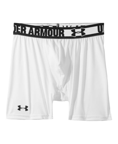"Under Armour Big Boys' HeatGear® Sonic 4"" Fitted Shorts Youth Large White"
