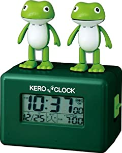 リズム時計 目覚し時計 ケロクロック アクション付 歌うカエル 8RDA41RH05