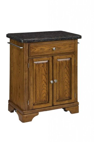 Cheap Kitchen Cart with Salmon Granite Top in Oak Finish (VF_HY-9003-0065)