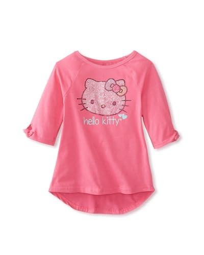 Hello Kitty Girl's Raglan Tee  [Carmine Rose]