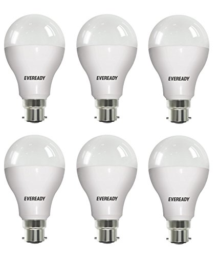 12W B22D LED Bulb (White, Pack of 6)