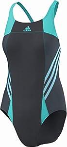 Adidas Inspiration Athletic Maillot de bain 1 pièce pour femme gris Phantom S09/Vivid Mint F14 Taille 44