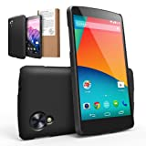[NEW RELEASE] RINGKE SLIM® Google Nexus 5 Case [SF BLACK] SUPER SLIM + SF COATED + PERFECT FIT Premium Hard Case Cover for Google Nexus 5 [AT&T, Verizon, Sprint, Unlocked, ECO Package]