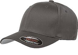 6277 Flexfit Wooly Combed Twill Cap - Small/Medium (Dark Gray)
