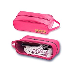 travel shoe storage bag pink lidded home