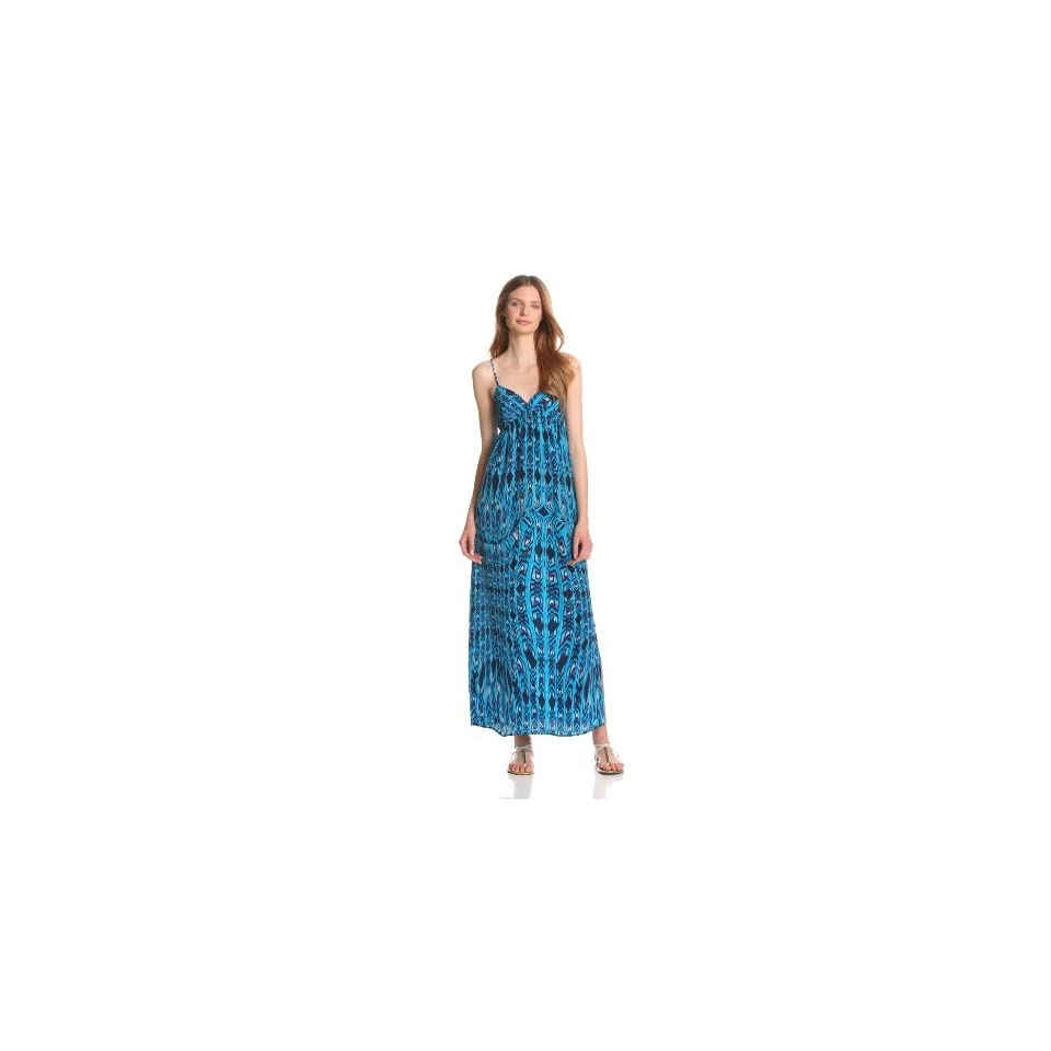 eight sixty Womens Ombre Maxi Dress, Turquoise/Navy, X Small