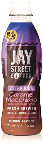 Jay Street Coffee, Extra Rich Caramel Macchiato, 9.1 Ounce (Pack of 12)