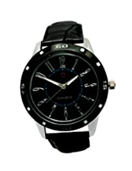 Svviss Bells Stylish Broad Black Dial Watch For Men