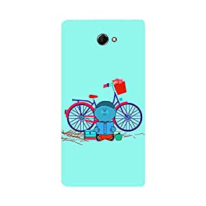 Skintice Designer Back Cover with direct 3D sublimation printing for Sony Xperia M2