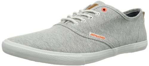 Jack and Jones Mens JJ Spider Low-Top 12065507 Light Grey Melange 10 UK, 44 EU
