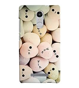Chiraiyaa Designer Printed Premium Back Cover Case for Xiaomi Redmi Note 3 (smiley egg pencil draw) (Multicolor)