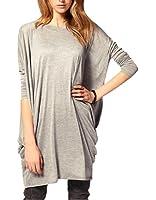 Bepei T-shirt Femme Longue Manches chauve-souris Longues Col Rond Grande Taille