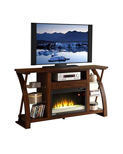 """Legends Furniture Super Z 62"""" Fireplace Console, Cocoa"""