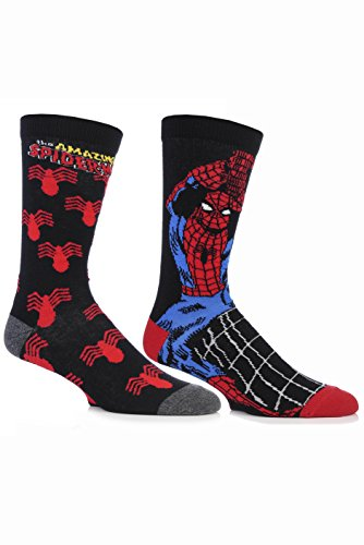 SockShop Men's 2 Pair Marvel The Amazing Spider-Man Cotton Socks
