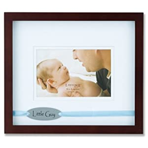 Lawrence Frames Brown 4 by 6-Inch Picture Frame, Satin Blue Ribbon Little Guy Design