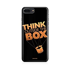 Motivatebox- Think Outside the box- entrepreneur lines Apple Iphone 7 plus cover -Matte Polycarbonate 3D Hard case Mobile Cell Phone Protective BACK CASE COVER. Hard Shockproof Scratch-