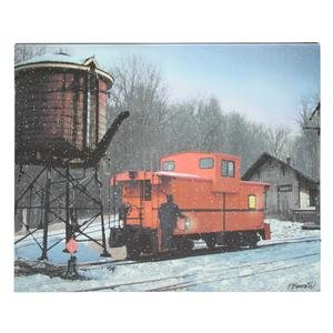 """Ohio Wholesale 37315 - 20"""" X 16"""" X 3/4"""" - """"Lighted Caboose"""" Battery Operated Led Lighted Canvas (Batteries Not Included)"""