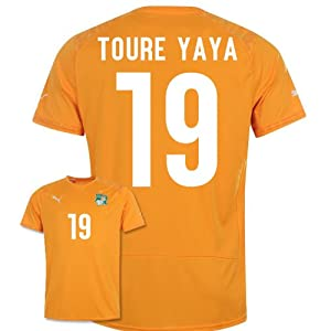 2014-15 Ivory Coast World Cup Home Shirt (Toure Yaya 19)