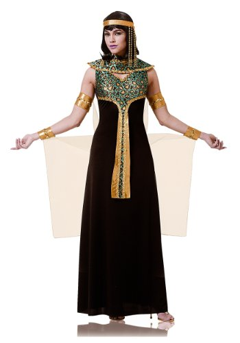 Adult Black And Teal Cleopatra Costume Small